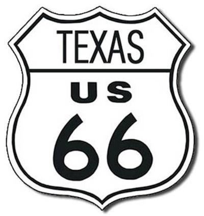 Route 66 - Texas Highway Road