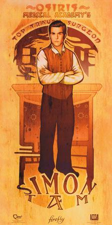 Serenity Movie Firefly Les Hommes Simon Tam Poster