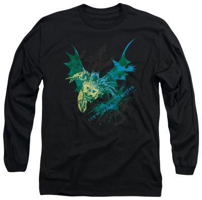 Long Sleeve: The Dark Knight Rises - Batarang (Green)
