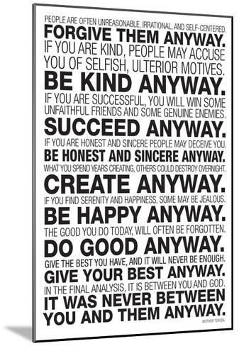photo about Mother Teresa Do It Anyway Free Printable known as Mom Teresa In any case Poster
