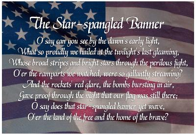 Star-spangled Banner Lyrics Poster