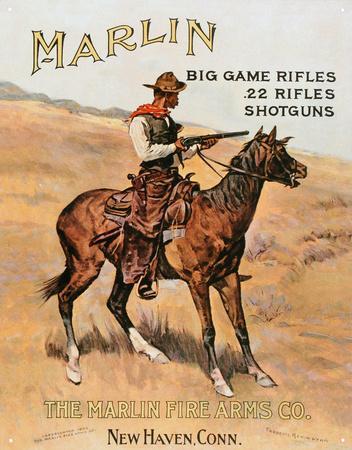 Marlin Firearms Co Rifles Cowboy on Horse Hunting