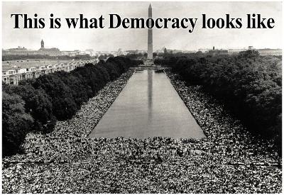 What Democracy Looks Like Poster