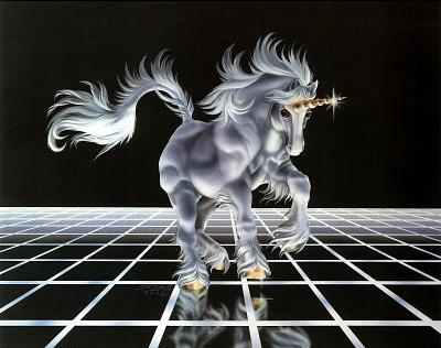 Up From The Grid (White Unicorn) Posters at AllPosters.com