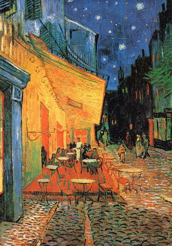 Fine Art Print//Poster Vincent van Gogh The Cafe Terrace at Night