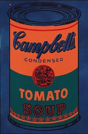 Colored Campbell's Soup Can, c.1965 Blue & Orange