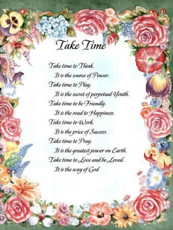 Take Time (Prayer)