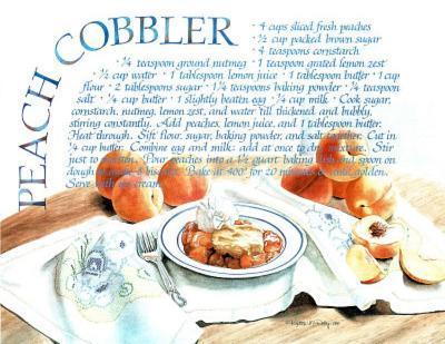 Peach Cobbler Recipe Food Pie Dessert