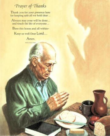 Praying with Jesus blessing