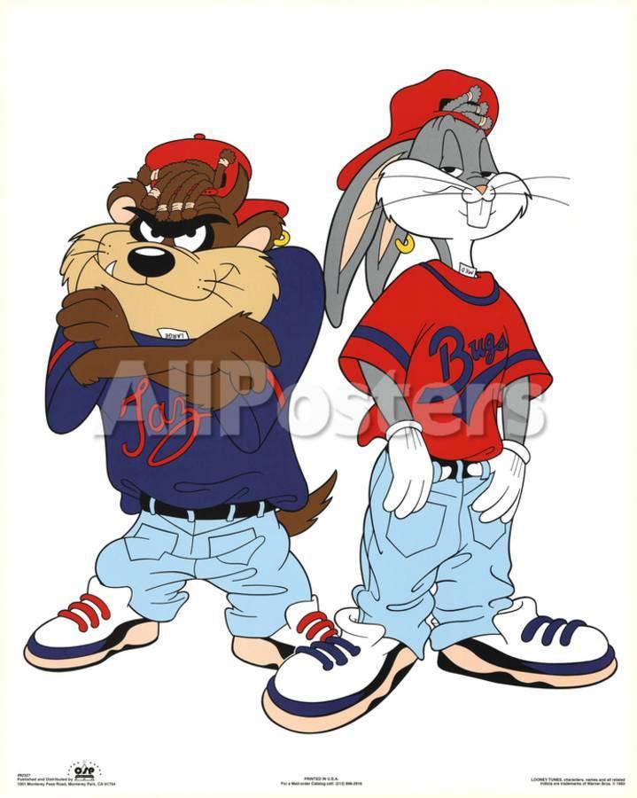 Looney Tunes Bugs Bunny And Tazmanian Devil Kris Kross Print Allposters Com