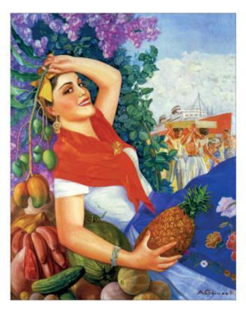 Woman Holding Fruit
