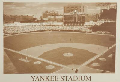New York Yankees Yankee Stadium B&W Vintage Photo Sports