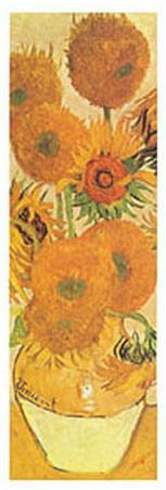 Vase with Fifteen Sunflowers Detail