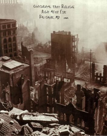 Continental Trust after Fire (Baltimore, c.1904)