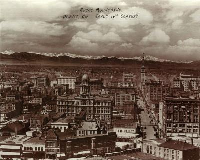 Rocky Mountains Denver CO Early 20th Century