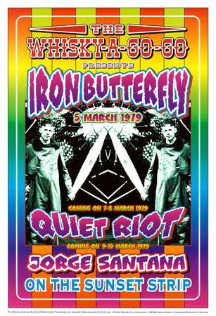 Iron Butterfly and Quiet Riot Whisky-A-Go-Go Los Angeles, c.1979