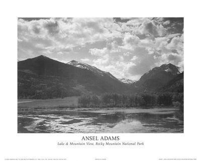 Lake & Mountain View Rocky Mountain National Park