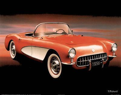 1956 Red Corvette