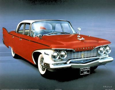 1960 Red Plymouth