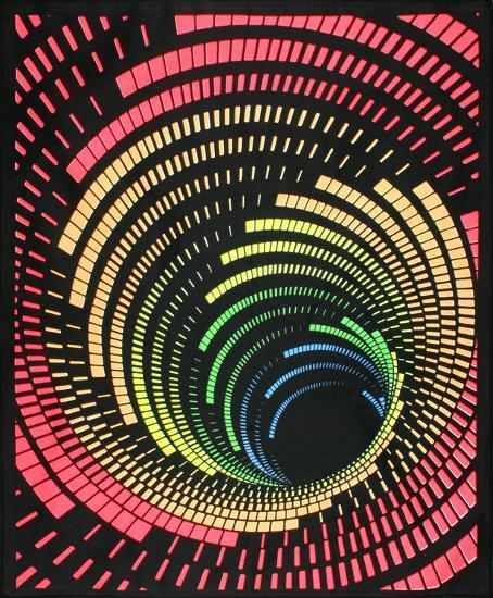 cosmic tunnel blacklight reactive cloth wall hanging poster at