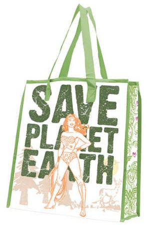 Wonder Woman Save Planet Earth Large Recycled Shopper