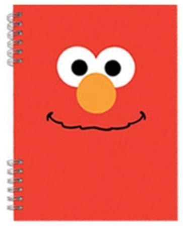 Sesame Street Elmo Lenticular Spiral Notebook