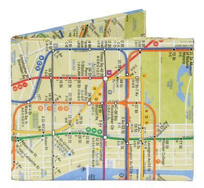 NYC New York City Subway Map Mighty Wallet