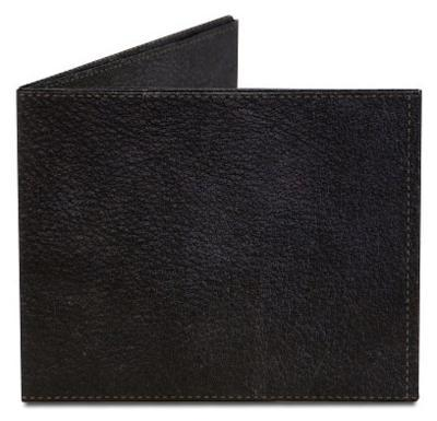 Black Leather Printed Tyvek Mighty Wallet