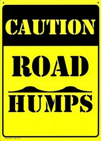 Caution Road Humps