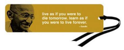 Gandhi Iphilosophy Live Learn Bookmark
