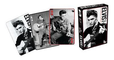 Elvis Presley Black and White Music Playing Cards