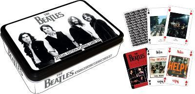 The Beatles Black and White Playing Card Tin Set