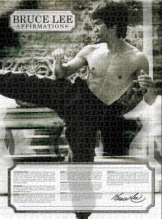 Bruce Lee Affirmation 1000 Piece Jigsaw  Puzzle