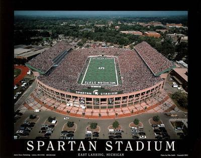 Michigan State University Spartan Stadium NCAA by Mike Smith Sports