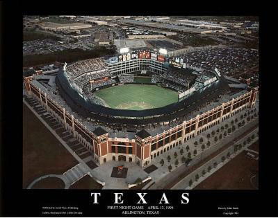 Texas Rangers First Night Game April 13, c.1994 Sports