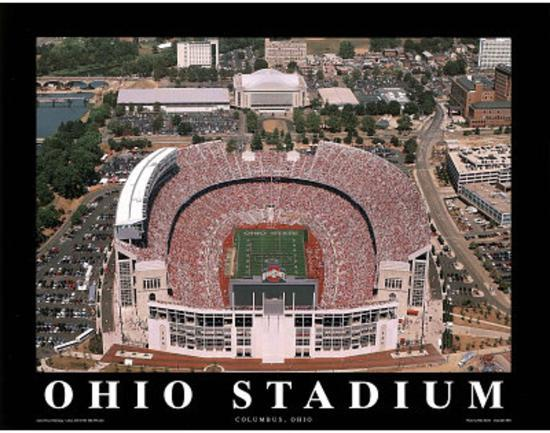 Ohio State Buckeyes Ohio Stadium NCAA Sports Print by Mike ...
