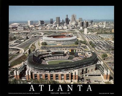 Atlanta Braves Turner Field First Game March 29, c.1997 Sports