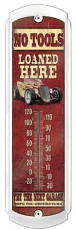 No Tools Loaned Garage Indoor/Outdoor Thermometer