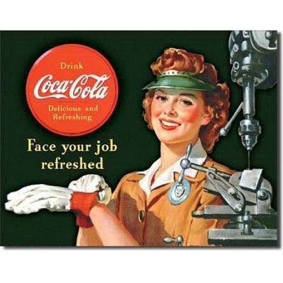 Coca Cola Coke Female Machinist