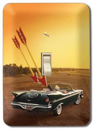 Vintage Car Convertible Double Arrow Light Switch Plate