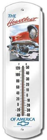 Chevy Chevrolet Heartbeat Indoor/Outdoor Weather Thermometer