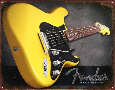 Yellow Fender Guitar Make History