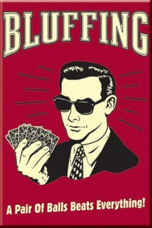 Poker Bluffing a Pair of Balls Beats Everything Magnet