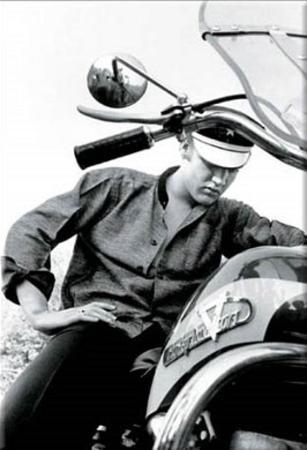 Elvis Presley Motorcycle Harley Davidson Magnet