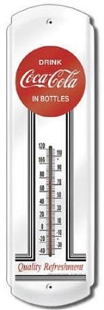 Coca Cola 1930s Logo Indoor/Outdoor Thermometer