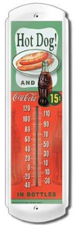 Hot Dog and Coke Indoor/Outdoor Thermometer