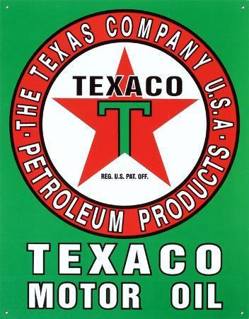 Texaco Motor Oil Gasoline Logo
