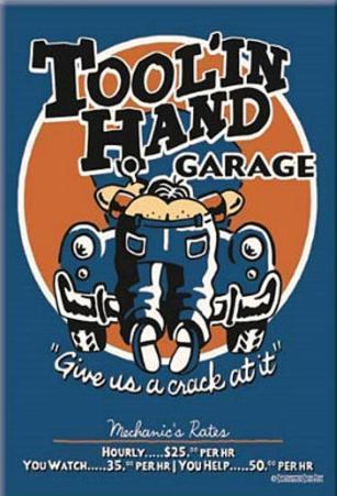 Toolin Hand Garage Magnet