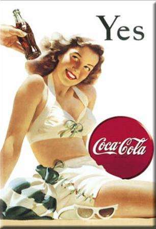 Coca Cola Coke Yes Girl Magnet