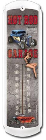 Hot Rod Garage Indoor/Outdoor Thermometer
